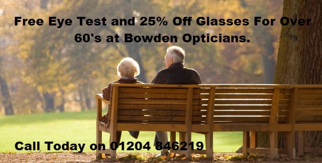 Free eye test for over 60's